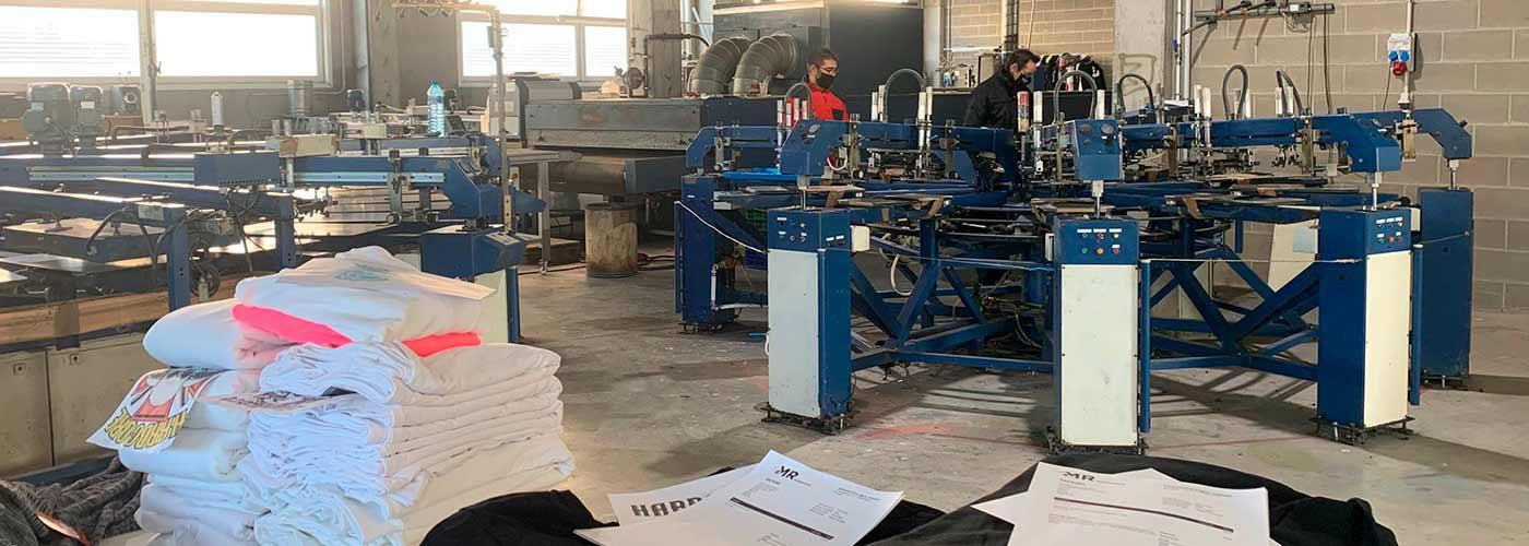 Serigrafia textil maquinaria