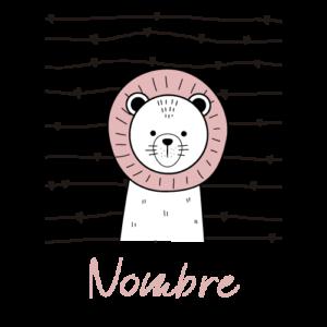 body bebé personalizado león nombre rosa