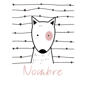 body bebé personalizado perrito nombre rosa