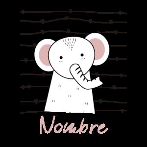 body bebé personalizado elefante nombre rosa