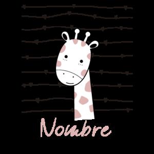 body jirafa personalizado color rosa