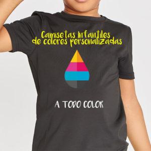 Camisetas personalizadas niños de colores