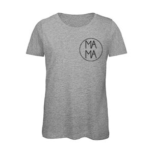 camiseta mamá color gris