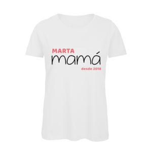 Camiseta Mamá con nombre y fecha