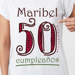 Camiseta 50 cumpleaños personalizada