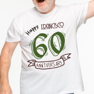 Camiseta 60 cumpleaños personalizada