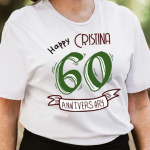 Camiseta 60 cumpleaños personalizada mujer