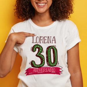 Camiseta cumpleaños 30 años chica